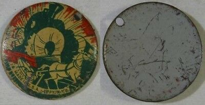 1940s~Pinback Button~Eppy, NY~Covered Wagon Train Wreck