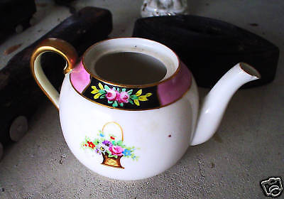 Antique Nippon Hand Painted Teapot LOOK
