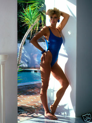 Markie Post Posing In Blue Swimsuit 1981 Rare Photo