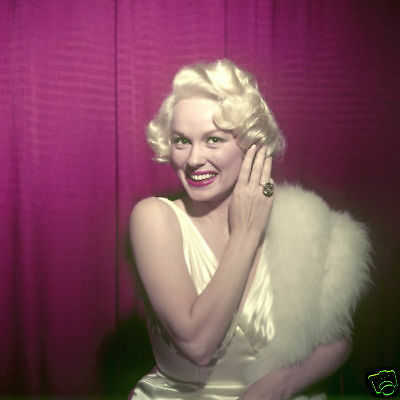 Mamie Van Doren Rare Photo From Vintage Transparency