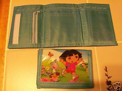 DORA THE EXPLORER girls TRIFOLD WALLET  NEW aqua