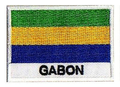 Patch écusson patche drapeau GABON  70 x 45 mm à coudre badge brodé