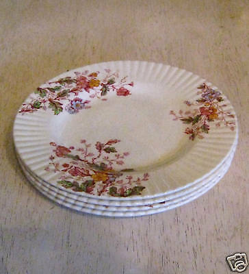 4 Vintage Booths England WASHINGTON Floral B&B Plates
