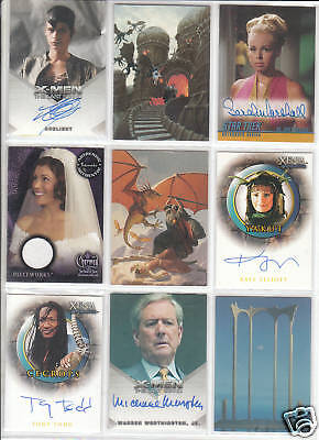 TRADING CARDS:Planche N° 40 COSTUMES,AUTOGRAPHS  divers