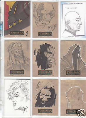 TRADING CARDS:Planche N° 42 COSTUMES,AUTOGRAPHS  divers
