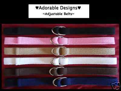 *Boy/Girl Children/Toddler/Kid Adjustable D-Ring Belts-School Uniforms/Everyday*