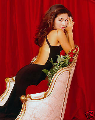 Vanessa Marcil Sexy Black Dress 8X10 Color Photograph