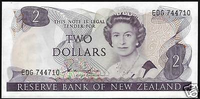 TMM* 1981-85 Banknote New Zealand 2 Dollars P170a Unc