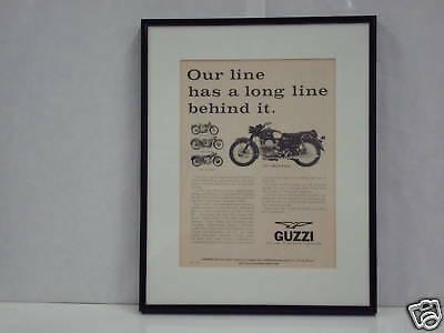 Moto Guzzi Framed Ambassador Ad from 1971
