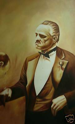 Godfather 2 Oil Painting 28x16inches  Not giclee popart