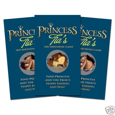 10 The Princess and The Frog Birthday Party Favor Personalized Scratch Off Games
