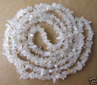 New!4-8mm Natural Moonstone Chip Beads 34''