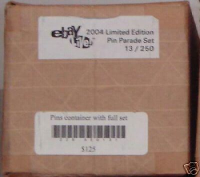 Ebay Live 2004~Limited Edition Pin Parade Set~13/250 Nw