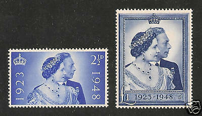 Great Britain #267-68 VF MNH - 1948 Silver Wedding