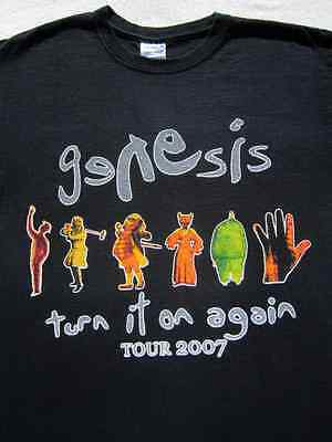 GENESIS turn it on again 2007 tour MEDIUM concert T-SHIRT