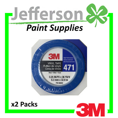 2rolls of 3M 6mm FINE LINE MASKING TAPE AUTO BODY PAINT