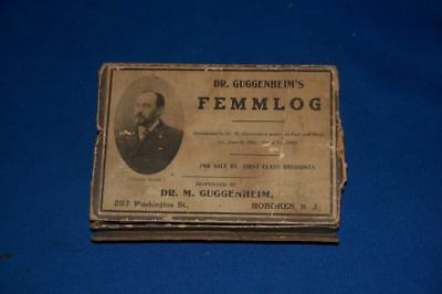 Vintage Antique 1906 Dr Guggenheim Femmlog Druggist Box