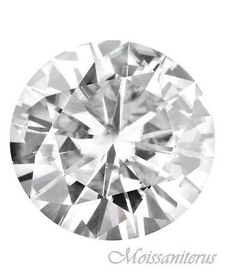 Loose Round Forever Classic 6.5mm Moissanite = 1 CT Diamond with Certificate