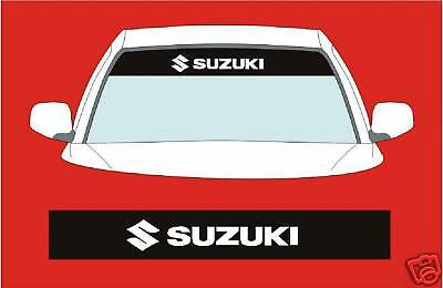 SUZUKI  SUNSTRIP CAR DECALS GRAPHICS STICKER choose any 2 colours from list