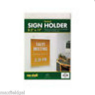 New Vertical Sign Holder-Plastic, wall mount w/warranty