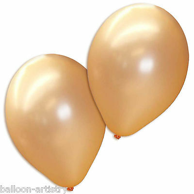 "10 x Peach 12"" Latex Pearlised Party Balloons"