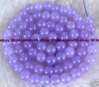 New! 6mm Beautiful Purple Jade Round Gemstone Beads 15'