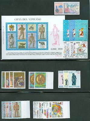 Vatican City 1987 Compete MNH Year Set
