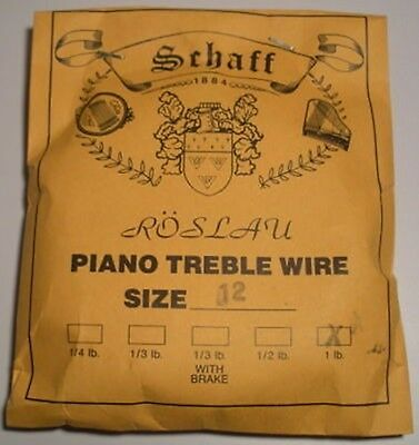 Piano Music Wire Roslau 1 lb coil Choose Size 12-21