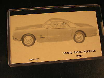 1961 Topps Sports Cars Original PROOF Card 5000 GT