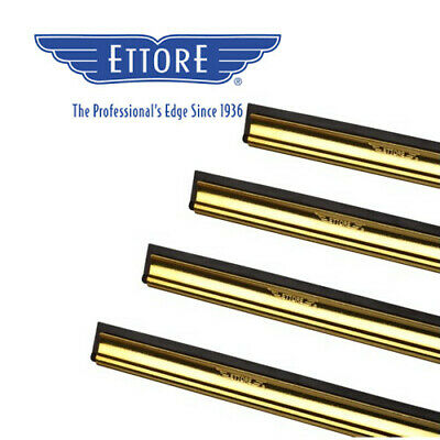 """18"""" = 45 cm Ettore Master Brass Channel and Rubber with clips"""