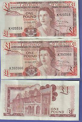 Gibraltar-Great Britain-2 1 Pounds 1979 ChVF ,#20-B