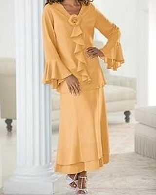 Mother of Bride Groom Wedding Evening Women's skirt suit party Church plus 38W6X