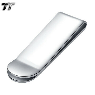 ELEGANT T&T SILVER Stainless Steel MONEY CLIP MC01S