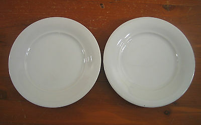Mitterteich Bavaria W Germany Solid White Smooth 2 Bread Butter Plates Plate