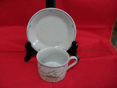 "NICE FITZ AND FLOYD ""LA MER"" CUP AND SAUCER SET"