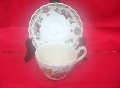 MYOTTS STAFFORDSHIRE, BOUQUET (no trim) CUP & SAUCER