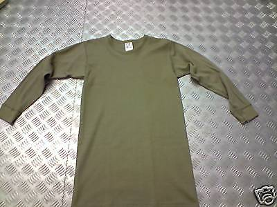 """Genuine Dutch Army Half Wool Green Long Sleeve Thermal Tops. Size 40""""/42"""" - NEW"""