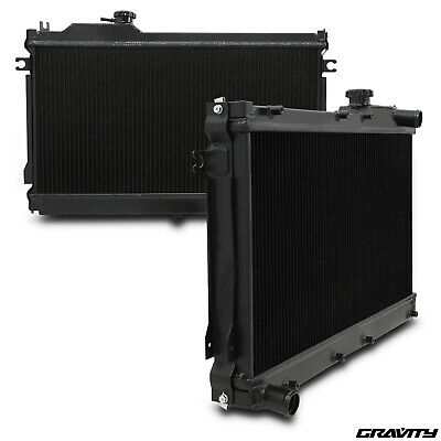 50Mm Black Edition Alloy Twin Core Radiator Rad For Mazda Mx5 Mx-5 1.6 1.8 90-97