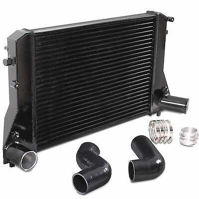 Black Aluminium Front Mount Fmic Intercooler Kit For Audi A3 8P Tt 1.6 2.0 Tdi