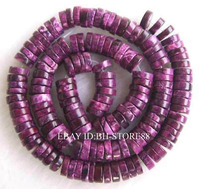 3x8mm beautiful Purple Jade Roundel Beads 15''