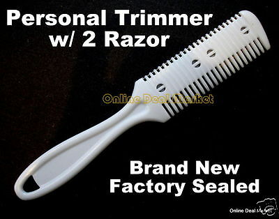 Personal Razor Blade Comb Hair Trimmer Cleaner Cutting