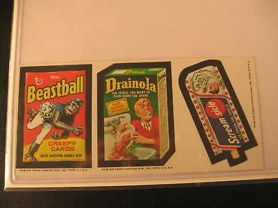 1975 Topps Wacky Packages Series 13 3-Sticker Strip