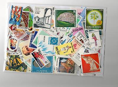 Timbres Mexique : 300 Timbres Neufs Tous Differents