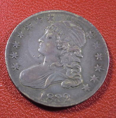 1832 Caped Bust Lettered Edge Silver Half Dollar