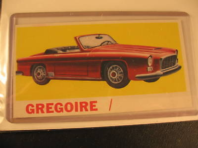 1961 Topps Sports Cars Original Proof Card Gregoire