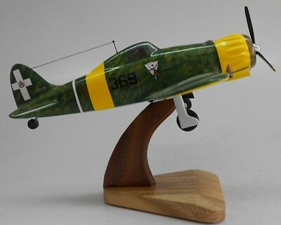 MC-200 Saetta Macchi Italian AF Airplane Wood Model Big