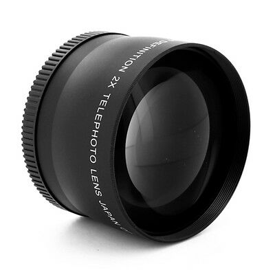 2X TELEPHOTO TELE LENS 58mm FOR Sony DSR PD-150 Camera