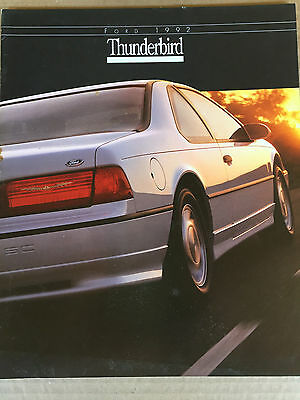 Great Condition 1992 FORD THUNDERBIRD BROCHURE 92