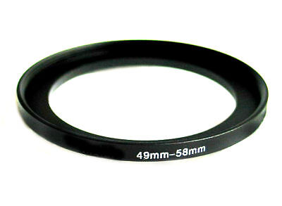 Step-up adapter ring 49-58 49mm-58mm Anodized Black NEW