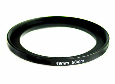 Step-up adapter ring 49-58 49mm-58mm Anodized Black, for Camera, from US Seller!